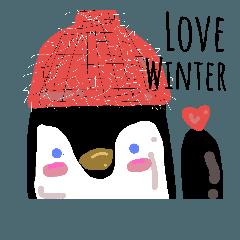 Hello cute penguin