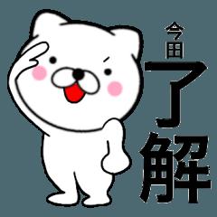 【今田】が使う主婦が作ったデカ文字ネコ