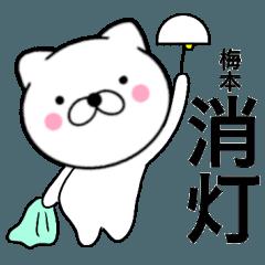 【梅本】が使う主婦が作ったデカ文字ネコ