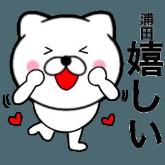 【浦田】が使う主婦が作ったデカ文字ネコ