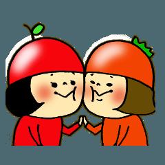 りんごとトマト