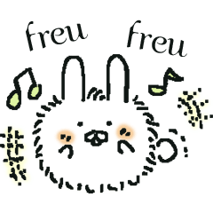 うさぎのもふちゃんドイツ語