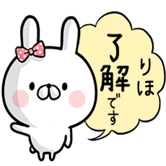 【りほ】専用名前ウサギ