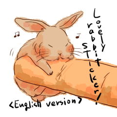 Lovely rabbit sticker!<English version>