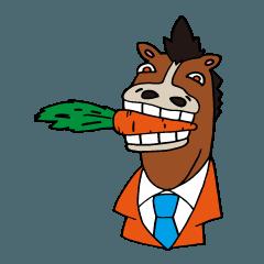 馬と鹿スタンプ