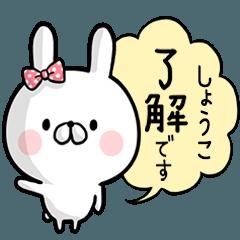 【しょうこ】専用名前ウサギ