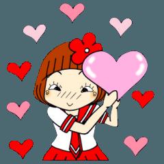 ひま子ちゃん134 女子高生スタンプ春♥