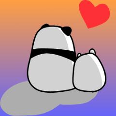 パンダと白いハムスター2(ラブラブ編)