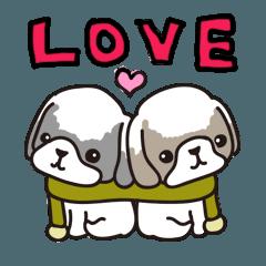 シーズー犬スタンプ 愛を叫ぼう!