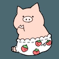 苺パンツぶた