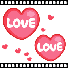 LOVE LOVE ハートスタンプ