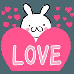 主婦が作ったデカ文字♡ラブラブ♡ ウサギ