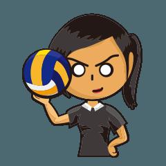バレーボールチームキャプテン