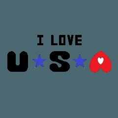 I Love USA.