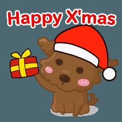 [LINEスタンプ] ルー : ハッピークリスマス