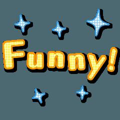 英語のシンプル文字もじ-バージョン2