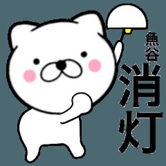 【魚谷】が使う主婦が作ったデカ文字ネコ