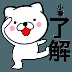 【小栗】が使う主婦が作ったデカ文字ネコ