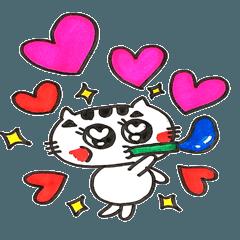[LINEスタンプ] ねこ♡ほっこりスタンプ3 (1)