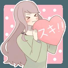 [LINEスタンプ] 恋する女子たち (1)