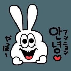 太っちょうさぎのラブラブ韓国語