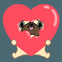 パグが来た!Love package