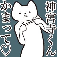 [LINEスタンプ] 【神宮寺くん・送る】しゃくれねこスタンプ