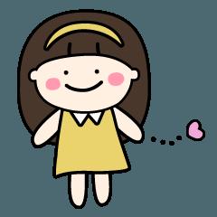 【かおりちゃんスタンプ】(文字なし)