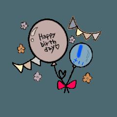 1才から40才までの誕生日バルーン