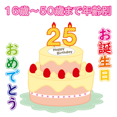 16~50歳誕生日を年齢別に祝う・はりねずみ