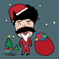 [LINEスタンプ] ユキ : クリスマスパーティーの画像(メイン)
