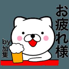 【加集】が使う主婦が作ったデカ文字ネコ