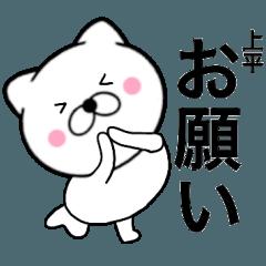 【上平】が使う主婦が作ったデカ文字ネコ