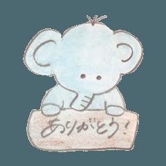 ゾウさんの可愛いスタンプ