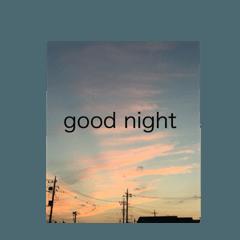 good night  stamp 癒しのおやすみスタンプ