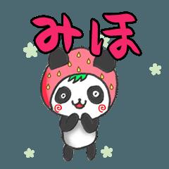イチゴinみほパンダの日常会話(苗字/名前)